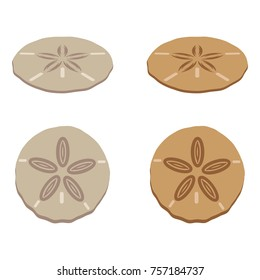 A set of sand dollar icons