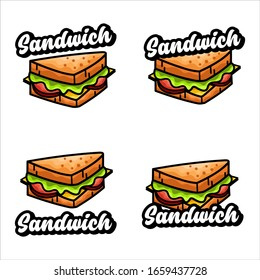set sandwich logos. flat vector illustration . food logo