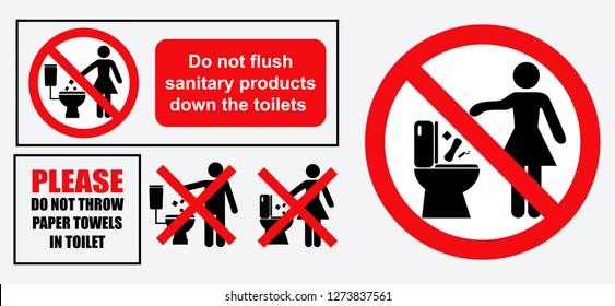 Do Not Flush Images Stock Photos Vectors Shutterstock