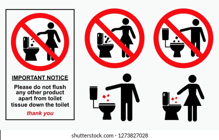 set of sanitary signs. easy to modify