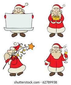 A set of Santa Claus