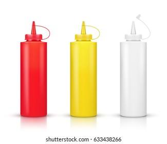 Set of Sauce Bottle
