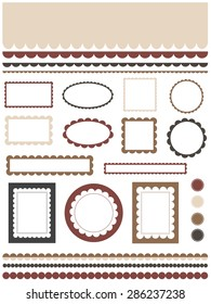 Set of scalloped design elements