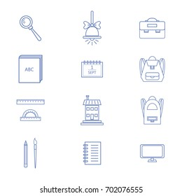 Set of school and education outline icons