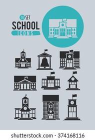 set school icons design