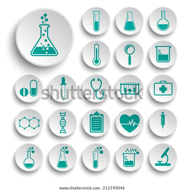 Set of science icons