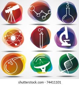 Set of scientific symbols