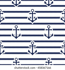 Set of sea and nautical seamless patterns.