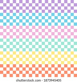 A set of seamless check pattern design for decorating wallpaper and etc. They're various colors isolated on white background.