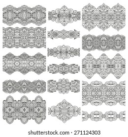 Set of seamless decorative ribbons