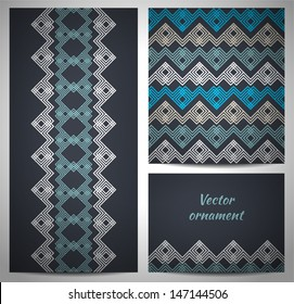 Set of seamless pattern and borders.