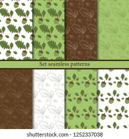 Set seamless patterns for the holidays