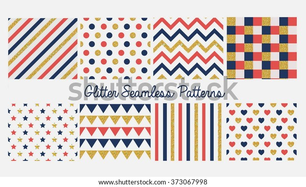 185e6b865 Set Seamless Simple Cute Baby Patterns Stock Vector (Royalty Free ...