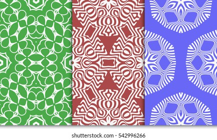 set of seamless sophisticated geometric pattern based on repetitive simple forms. vector illustration. for interior design, backgrounds, card, textile industry.