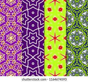 Set of Seamless vector pattern. Geometric ornament. linear background, lace texture, tribal ethnic arabic, fashion decorative ornament.