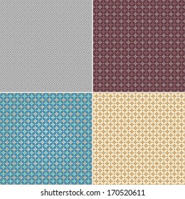 Set seamless wallpaper pattern