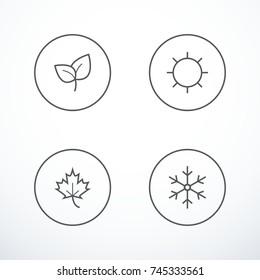 Set of season icons