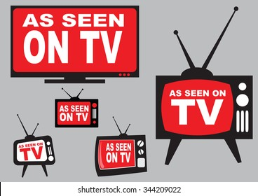 set of as seen on TV icon with television aerial