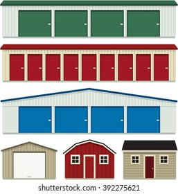 Set of Self Storage Buildings & Sheds