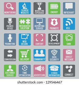 Set of seo icons - part 2 - vector icons