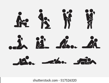 Set of sex position icons