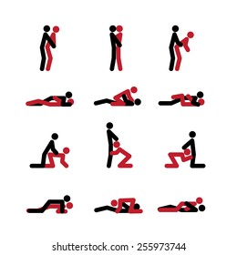 Set of sex positions