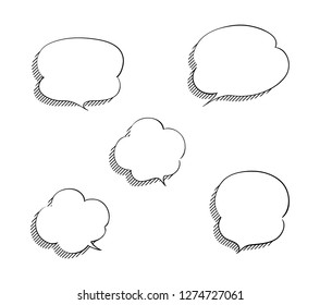 Set of shaded cloud shaped balloon