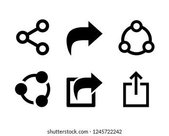 Set Share icon vector