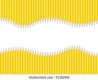 Set of Sharpened Pencils Background with Copy Space