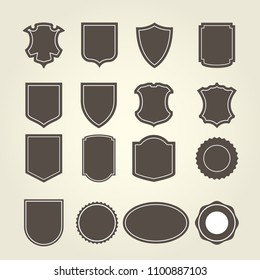 Set of shield in different shapes - shield-emblems and blazons