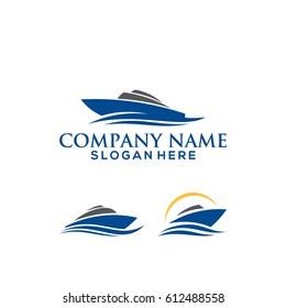 set of Ship logo template vector illustration