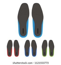set of shoes insoles