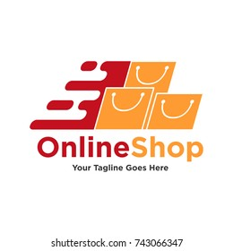 Set of Shop logo designs template vector, Set of Sale Logo template. Vector Online Shop Logo Template
