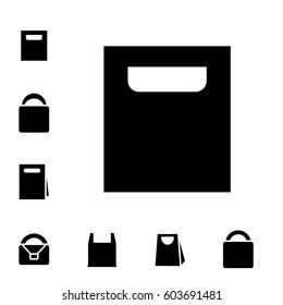 Set of Shopping Bag Icons Isolated on White Background