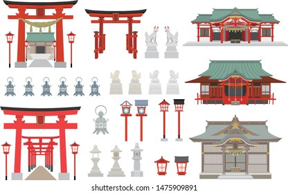 Set of shrines item torii lantern