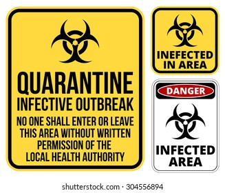 image regarding Quarantine Sign Printable called Quarantine Signal Visuals, Inventory Images Vectors Shutterstock