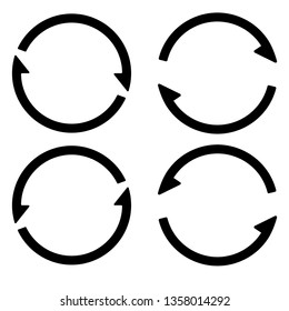 Set sign reload refresh icon, spinning arrows in a circle, vector symbol sync, renewable crypto currency, renew vector_02