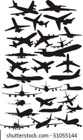 set silhouette plane