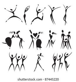 set silhouette, vector illustration