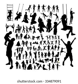 Set silhouettes people. Vector