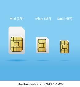set of sim cards