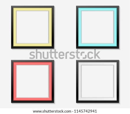 Set Simple Color Frames On White Stock Vector (Royalty Free ...