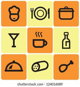 set of simple cooking icons