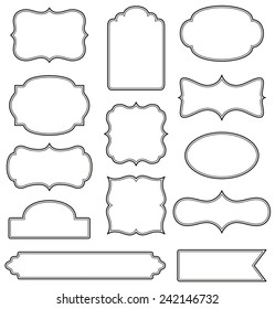 Set of simple decorative frames