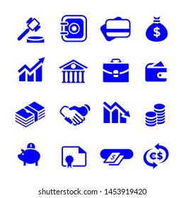 set Simple financial icons stock.
