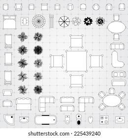 Vector Floor Plan Symbols High Res Stock Images Shutterstock