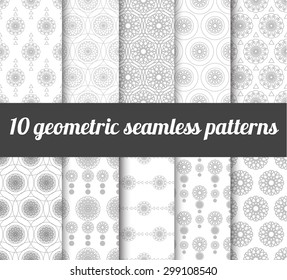 set of simple geometric seamless patterns. For card and textile design