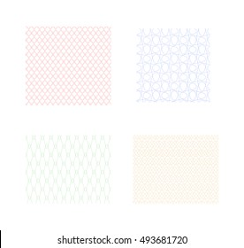 Set of Simple Guilloche Seamless Patterns