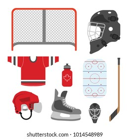 A set of simple hockey icons in vector format.