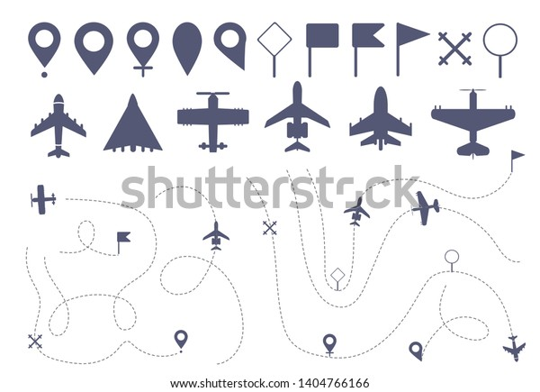 Set Simple Plane Route Line Different Stock Vector (Royalty ... on simple virginia map, simple map art, simple map generator, simple map london, simple maps for preschool, simple map design, simple map key worksheet, simple map mountain, simple map of a visual aid, simple maps for kindergarten students,